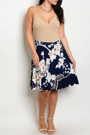 Gilli Navy Floral Skirt - Product Mini Image