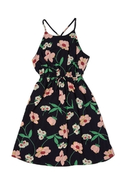 Soprano Navy Floral Sundress - Front cropped