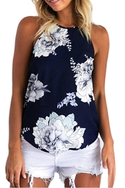 Cromwell  Navy Floral Tank - Product Mini Image