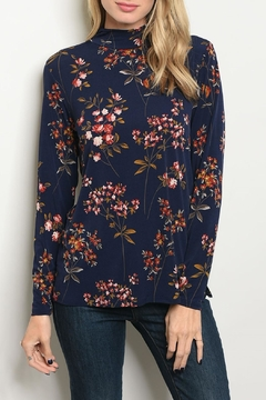 Shoptiques Product: Navy Floral Top