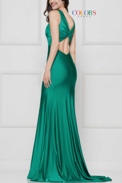 colors Navy Gathered Gown - Alternate List Image
