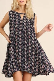 Umgee USA Navy-Geometric Print Dress - Product Mini Image