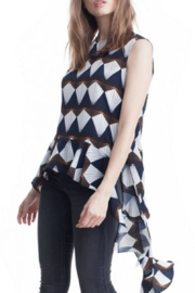 Symphony Navy Geometric Tunic - Front cropped