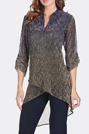 Frank Lyman NAVY GOLD TUNIC BLOUSE  175321 - Product Mini Image