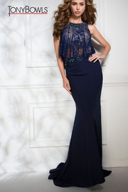 Tony Bowls Navy Gown - Product Mini Image