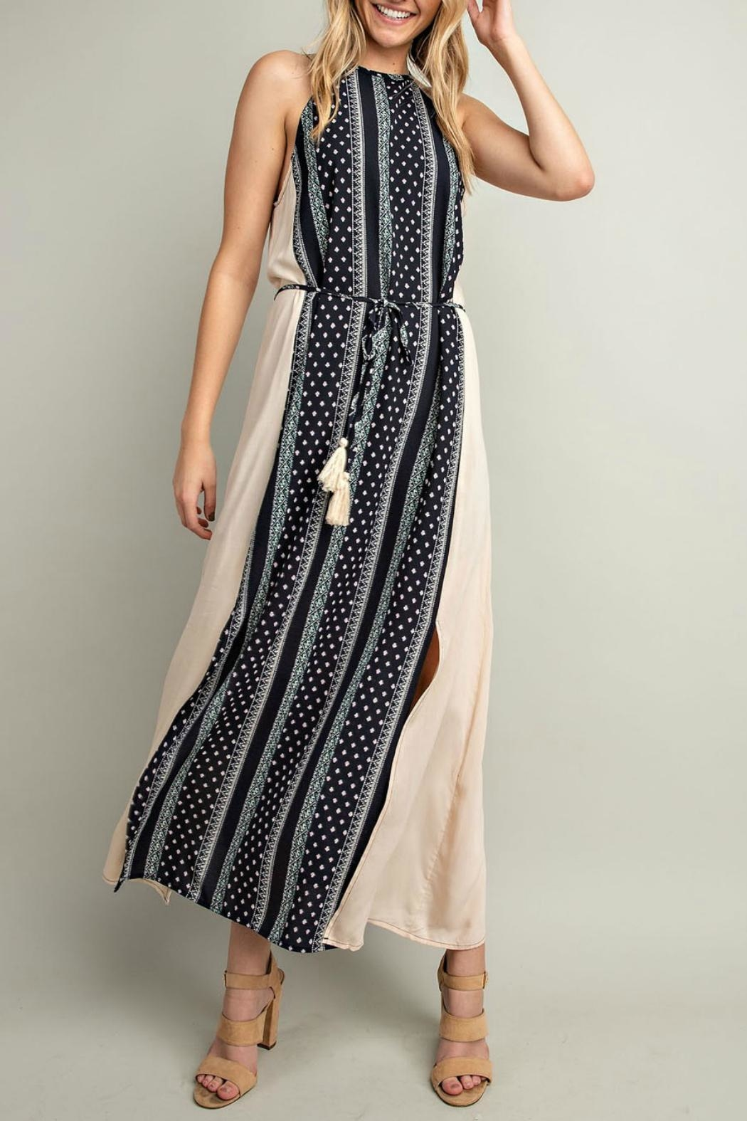 LLove USA Navy Halter Dress - Main Image