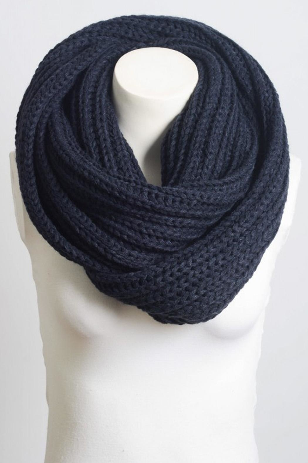 Wild Lilies Jewelry  Navy Infinity Scarf - Front Full Image