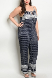 Lyn-Maree's  Navy & Ivory Jumpsuit - Product Mini Image