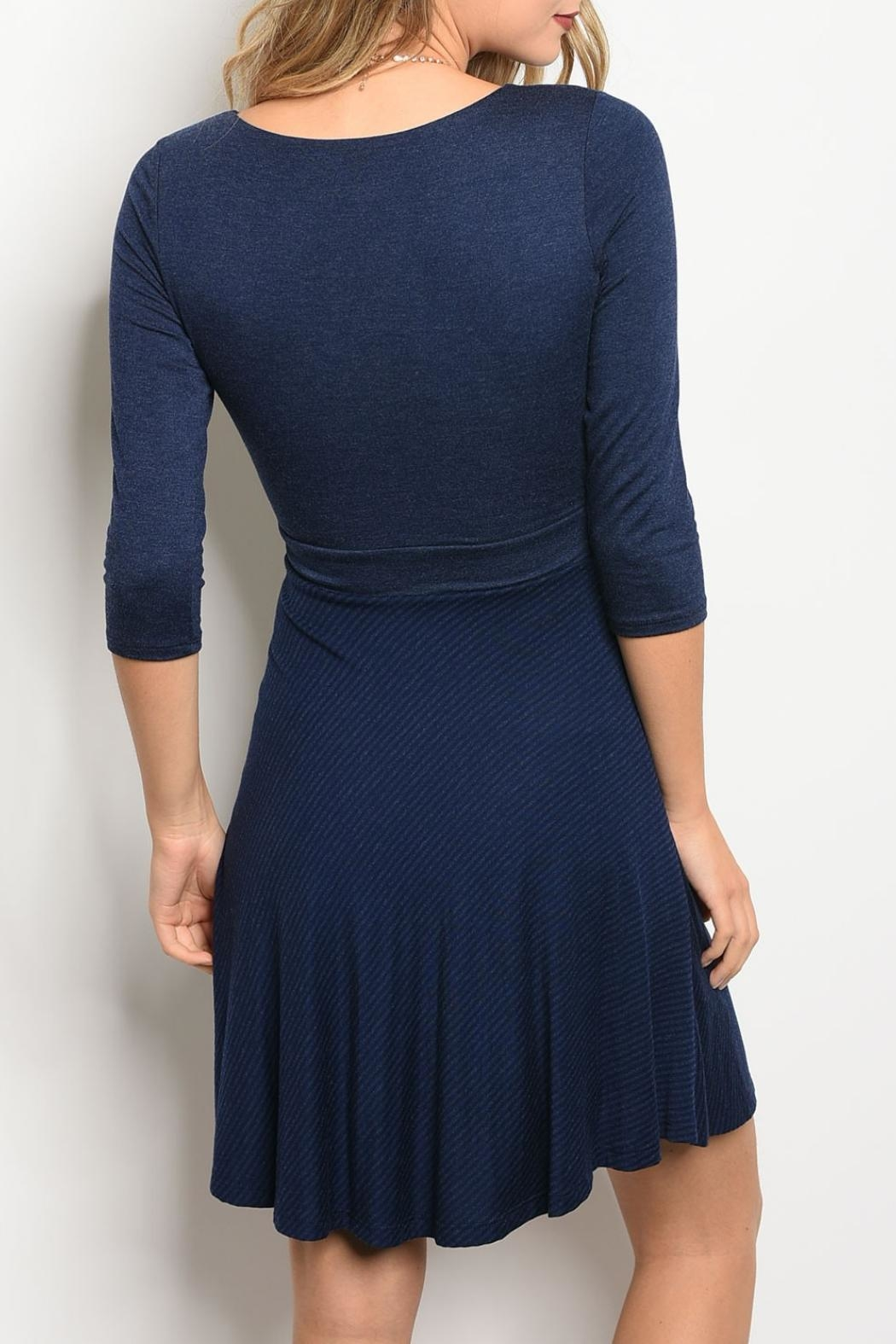 Gilli Navy Jersey Dress - Front Full Image