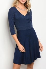 Gilli Navy Jersey Dress - Product Mini Image