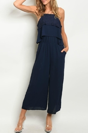 Very J Navy Jumpsuit - Product Mini Image