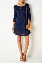 frontrow Navy Lace Dress - Product Mini Image