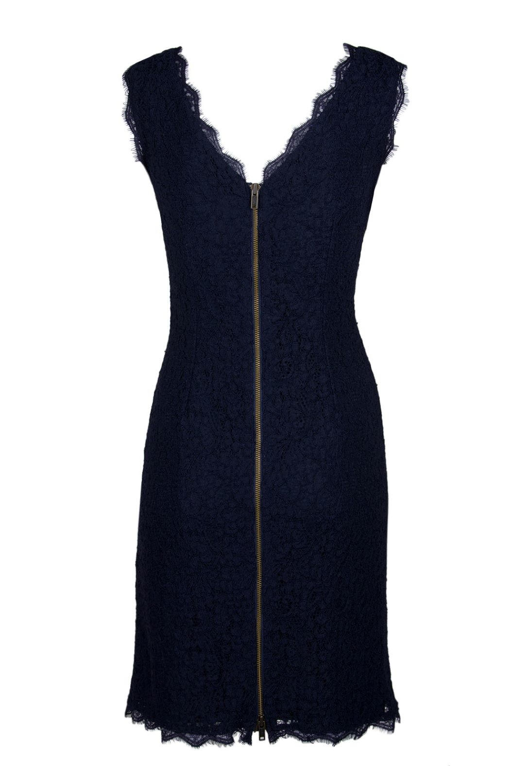 Adrianna Papell/Imm App Navy Lace Dress - Front Full Image