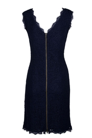 Adrianna Papell/Imm App Navy Lace Dress - Front full body