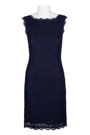 Adrianna Papell/Imm App Navy Lace Dress - Product Mini Image