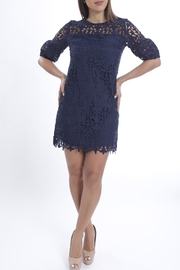 Cattiva Girl Navy Lace Dress - Product Mini Image
