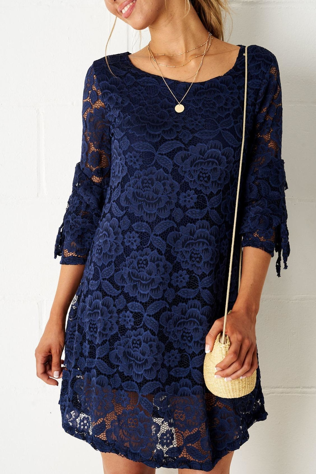 frontrow Navy Lace Dress - Main Image