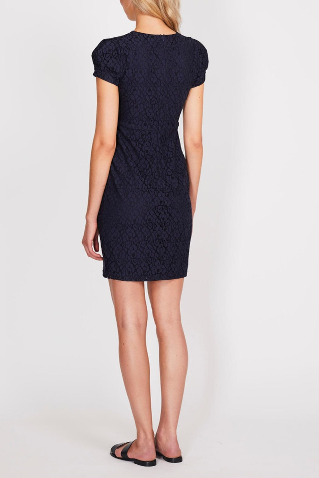 Dry Lake Navy Lace Dress - Front Full Image