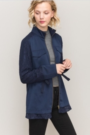 Hem & Thread Navy Lace Jacket - Product Mini Image