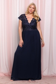 Soieblu Navy Lace Maxi - Product Mini Image