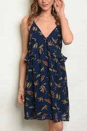 Lyn -Maree's Navy Leaf Dress - Product Mini Image