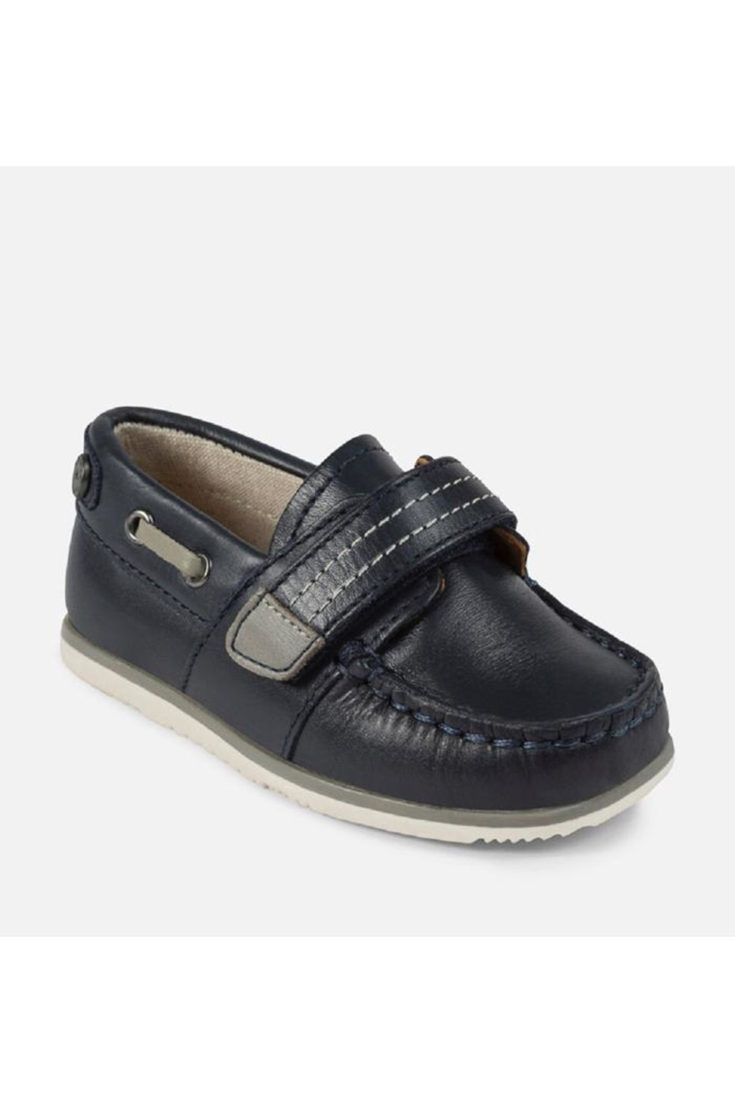 Mayoral Navy Leather Loafer - Main Image