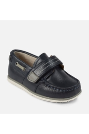 Mayoral Navy Leather Loafer - Front cropped