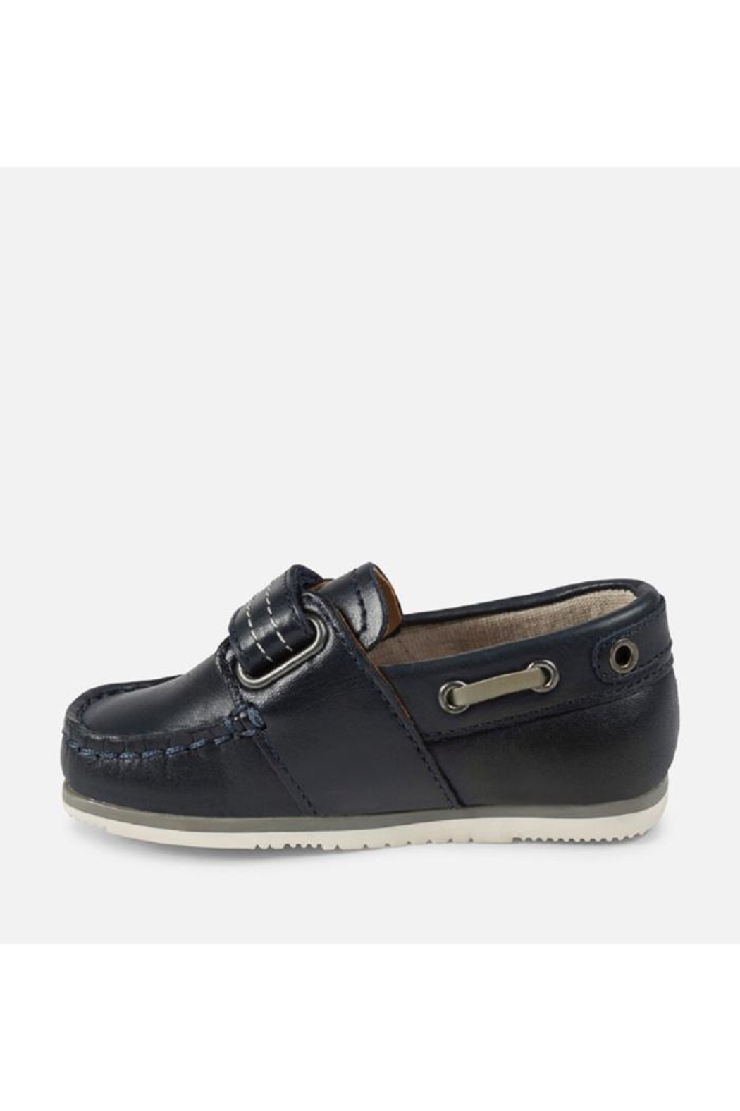 Mayoral Navy Leather Loafer - Front Full Image