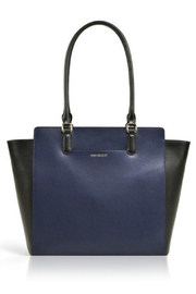 Vera Bradley Navy Leather Morgan - Front cropped