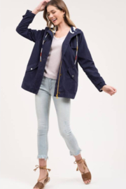 blu Pepper  Navy Lightweight Long Sleeve Jacket - Product Mini Image