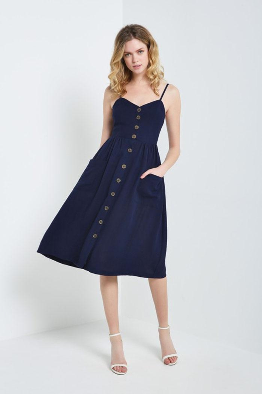 db3adcfb6c6d Bio Navy Linen Dress from Brooklyn by BB Collective — Shoptiques