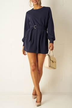 frontrow Navy Long-Sleeve Playsuit - Alternate List Image