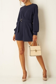 frontrow Navy Long-Sleeve Playsuit - Product Mini Image