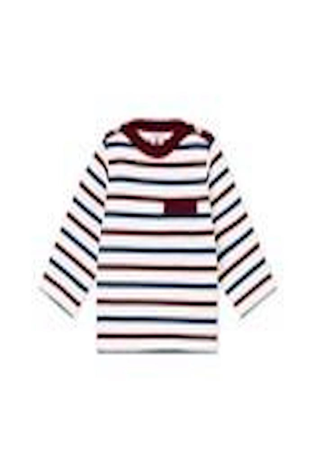 Petit Bateau Navy/maroon Striped Shirt - Main Image