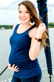 Izzie's Boutique Navy Maternity Tank - Product Mini Image