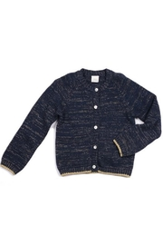 Egg  by Susan Lazar Navy Metallic Cardigan - Product Mini Image