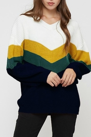 Vine & Love Navy Multi Sweater - Product Mini Image