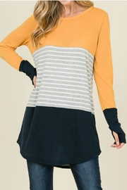 Reborn J Navy/mustard Top - Product Mini Image