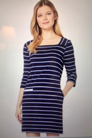 tribal  Navy Nautical Dress - Front cropped