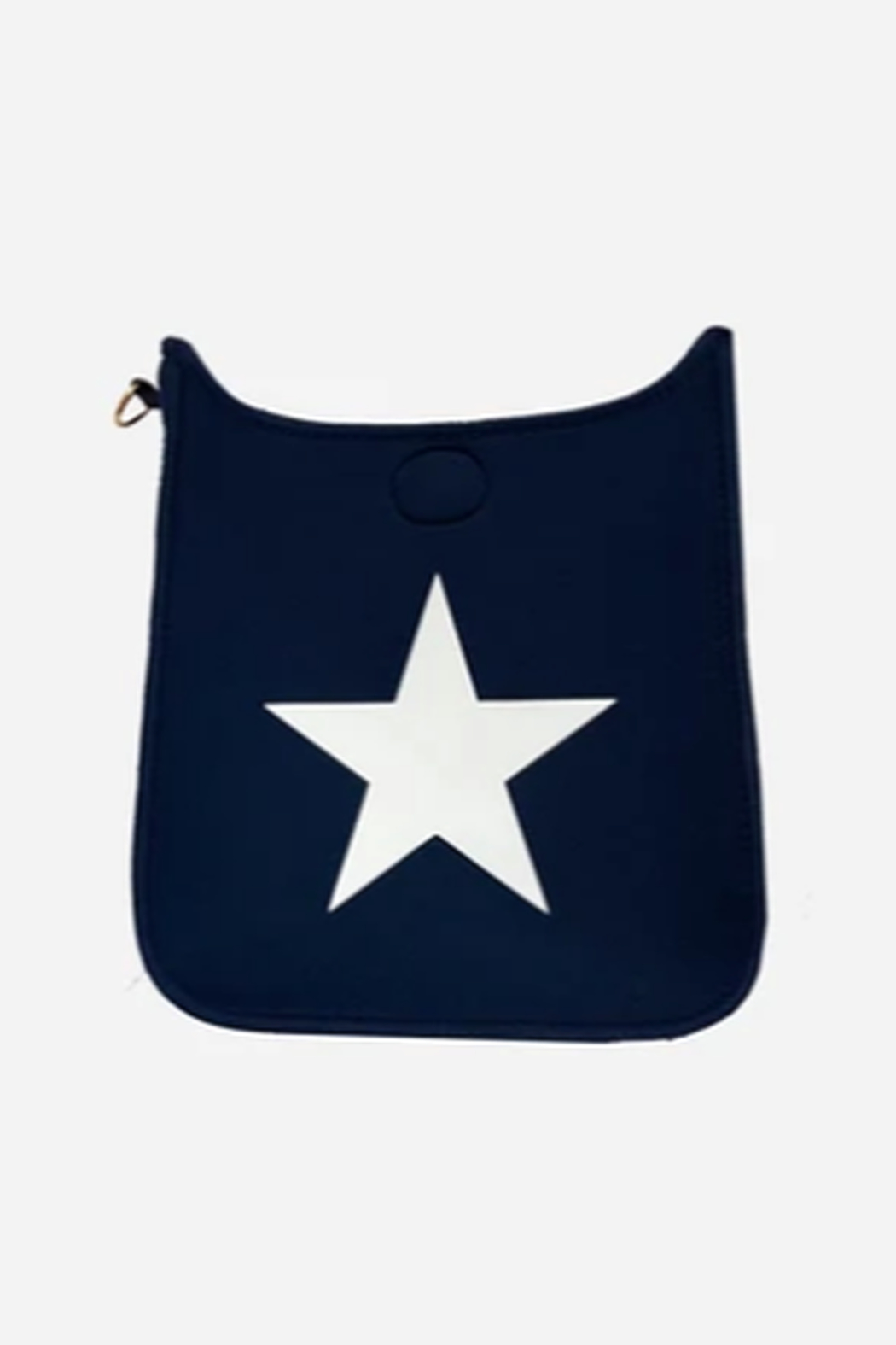 Ah!dorned Navy Neoprene Messenger w/ White Star - NO STRAP ATTACHED - Front Cropped Image