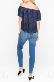 Lush Navy Off-Shoulder Top - Front full body