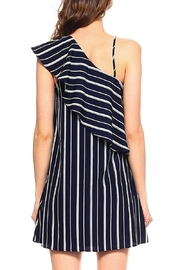 TCEC Navy One-Shoulder Dress - Front full body