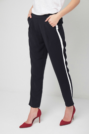 Best Mountain Navy Pant w White Side Stripe - Front cropped