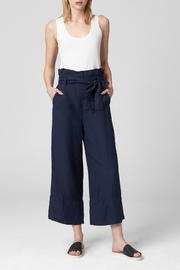 Blank NYC Navy Paperbag Pant - Product Mini Image