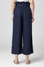 Blank NYC Navy Paperbag Pant - Back cropped