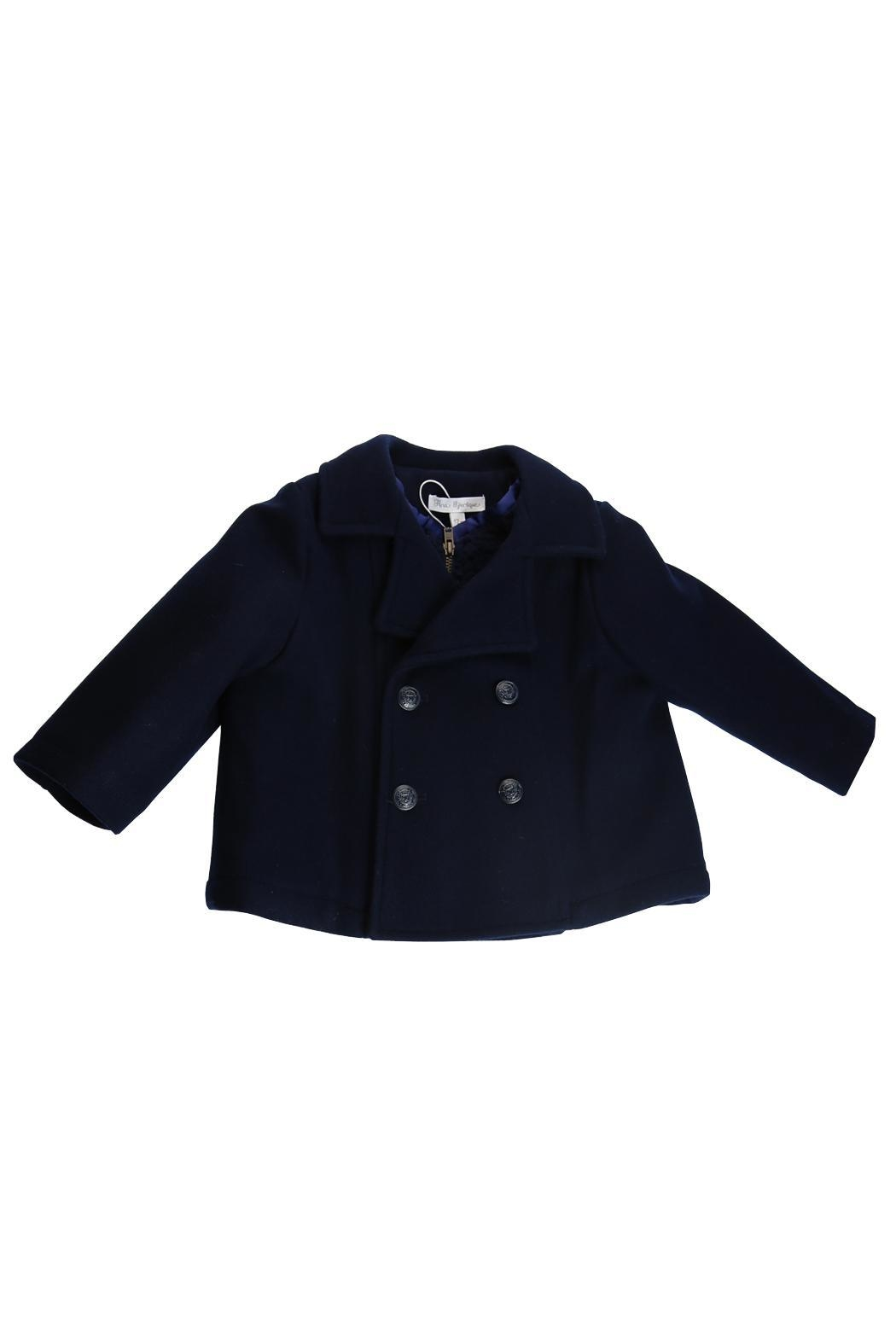 Fina Ejerique Navy Pea Coat. - Main Image