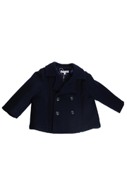 Fina Ejerique Navy Pea Coat. - Front cropped