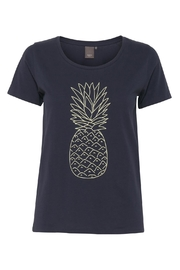 ICHI Navy Pineapple T-Shirt - Product Mini Image