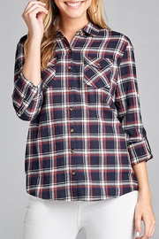 Active Basic Navy Plaid Flannel - Product Mini Image