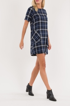 Love in  Navy Plaid Mini-Dress - Product List Image